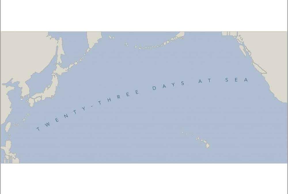 Twenty-three days at sea